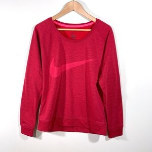 Nike | Swoosh Logo Boxy Pullover Crew Neck Sweater